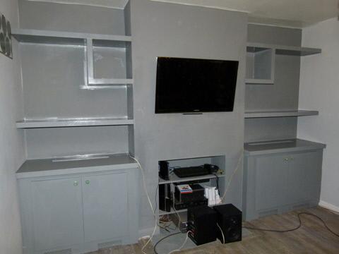 Canonbury-N1 Dark Grey Fitted Designer Alcove Units