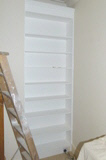 fitted Canonbury-N1 Hardwood Bookcases