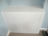 modern fitted floating cube cabinet