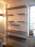 corner glass shelves