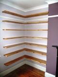 Made to measure pine shelves